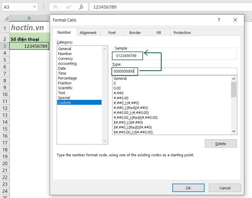 Cách Thêm +84 Vào Số Điện Thoại Trong Excel Bằng Cách Thay Đổi Định Dạng Ô