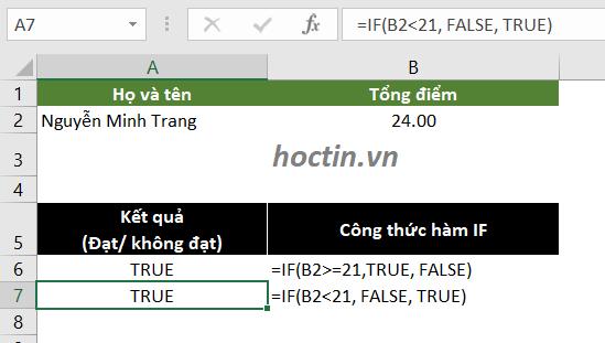 Đối Số Của Hàm IF Trong Excel Có Thể Thay Đổi Biểu Thức Logic Và Giá Trị Đối Số