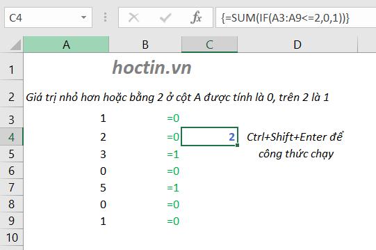 bất kỳ đối số nào cho hàm IF trong excel được cung cấp dưới dạng mảng, hàm IF sẽ đánh giá mọi phần tử của mảng