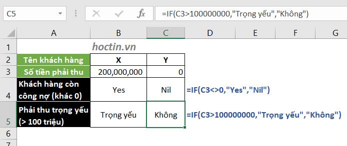 Cách Dùng Hàm IF Trong Excel Để Kiểm Tra Điều Kiện Số Đơn Giản