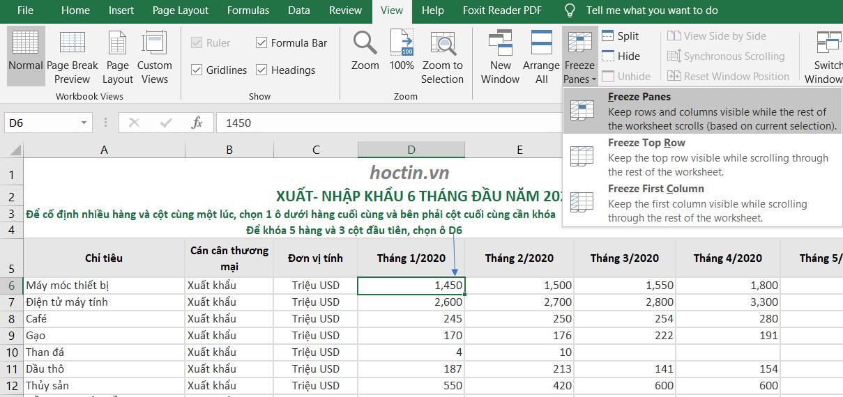 Cách Cố Định Ô Trong Excel