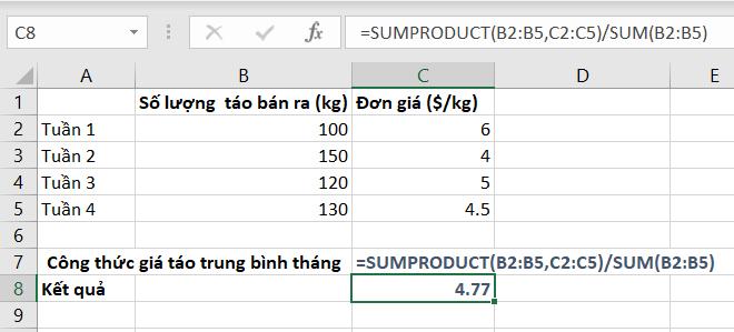 Cách tính tổng trong Excel sử dụng hàm SUM kết hợp các hàm khác