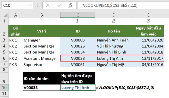 Sửa lỗi hàm VLOOKUP không hoạt động vì lỗi #N/A