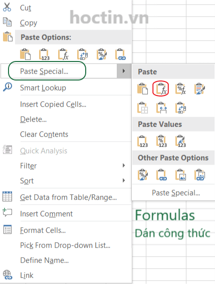 Cách Copy Công Thức Trong Excel bằng Paste Special