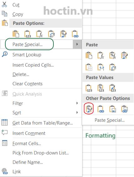 Cách Copy Trong Excel Giữ Nguyên Định Dạng