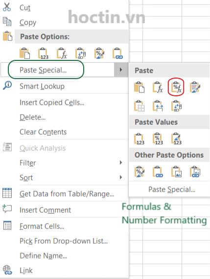 Cách Copy Công Thức Và Định Dạng Số Trong Excel