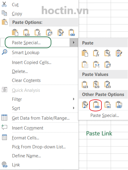 Cách Paste Link Khi Copy Trong Excel
