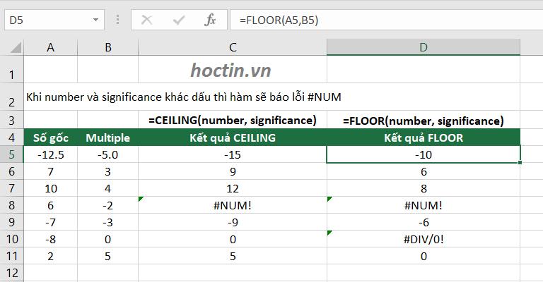 Cách Làm Tròn Trong Excel Với Hàm CEILING Và FLOOR – Làm Tròn Đến Bội Số Của Một Số Tùy Chọn