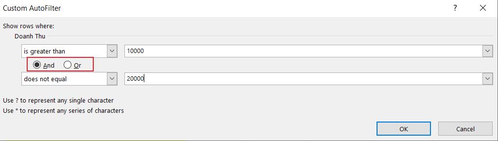 Cách Lọc Dữ Liệu Trong Excel Với Dữ Liệu Dạng Số Bằng Custom Filter