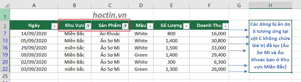 Cách Lọc Danh Sách Trong Excel Thỏa Mãn Điều Kiện Tại Nhiều Cột Lọc Dữ Liệu Trong Excel