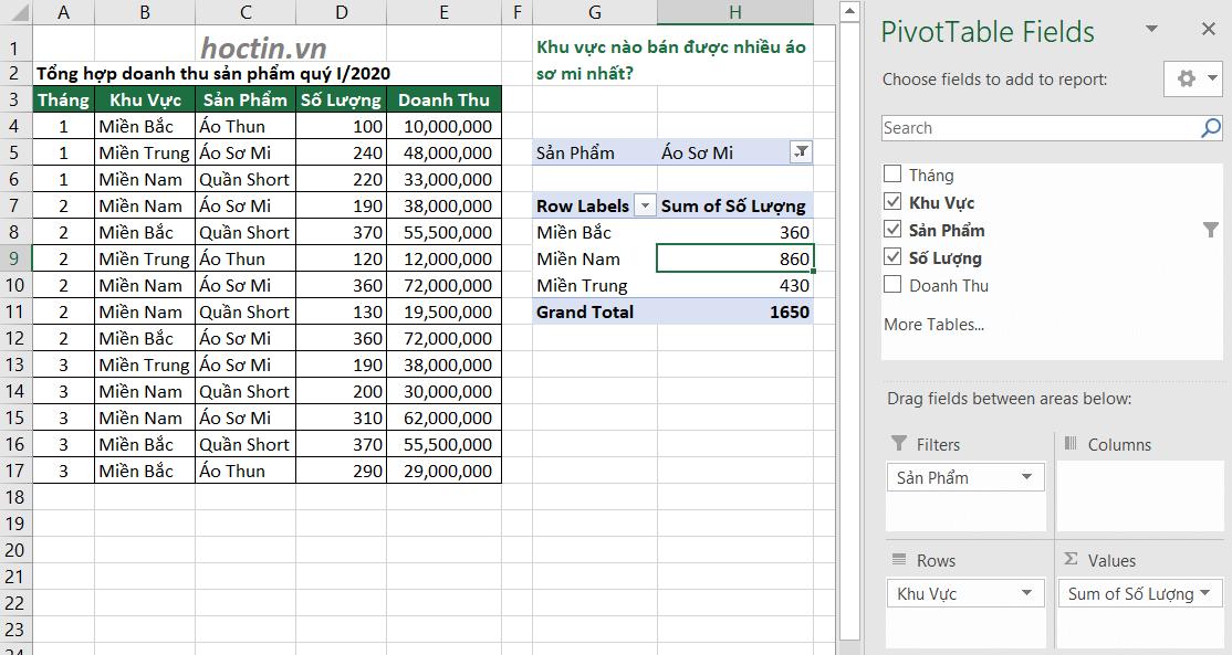 Cách Sử Dụng Pivot Table Nâng Cao Ứng Dụng Giải Bài Tập Excel