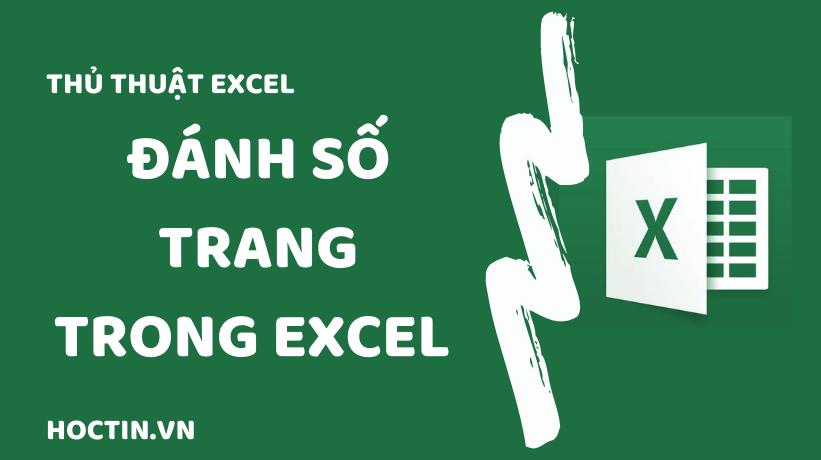 Cách đánh số trang trong Excel
