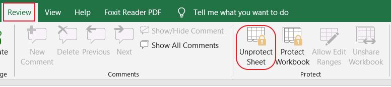 Cách mở khóa ô trong Excel
