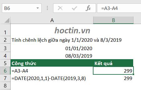 Để thực hiện tính số ngày trong Excel, bạn có thể điền các ngày vào các ô rồi tham chiếu vào công thức hoặc sử dụng hàm DATE