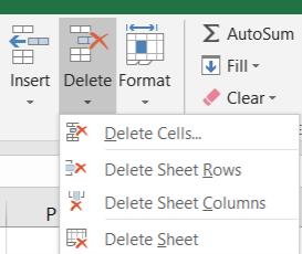 Cách Xóa Ô, Xóa Trang Trắng Trong Excel Bằng Tính Năng Delete Trong Tab Home