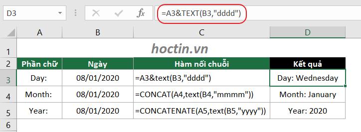 Kết Hợp Hàm Nối Chuỗi Và Hàm TEXT Để Ghép Chữ Và Số Trong Excel